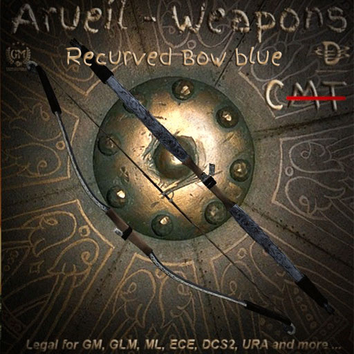 Recurved Bow blue